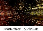 dark orange vector abstract... | Shutterstock .eps vector #772928881