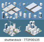 isometric module is area... | Shutterstock .eps vector #772930135