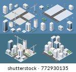 isometric module is area... | Shutterstock .eps vector #772930135