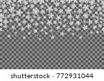 seamless pattern with... | Shutterstock .eps vector #772931044