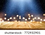 desk space and winter... | Shutterstock . vector #772932901