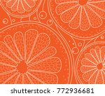 natural color stylized linear... | Shutterstock .eps vector #772936681