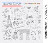 france tour icon set.hand draw... | Shutterstock .eps vector #772937371