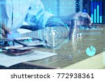 business technology people are... | Shutterstock . vector #772938361