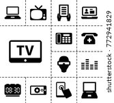 display icons. set of 13... | Shutterstock .eps vector #772941829
