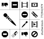negative icons. set of 13... | Shutterstock .eps vector #772941979