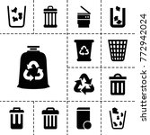 recycling icons. set of 13... | Shutterstock .eps vector #772942024