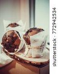 chocolate dessert cake   Shutterstock . vector #772942534