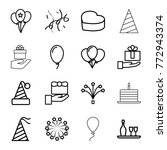 set of 16 anniversary outline... | Shutterstock .eps vector #772943374