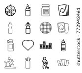 set of 16 club outline icons... | Shutterstock .eps vector #772943461