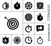 accurate icons. set of 13...   Shutterstock .eps vector #772943515