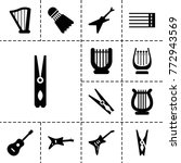 string icons. set of 13... | Shutterstock .eps vector #772943569