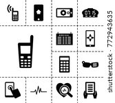display icons. set of 13... | Shutterstock .eps vector #772943635