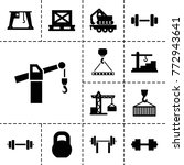 lifting icons. set of 13... | Shutterstock .eps vector #772943641
