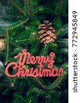merry christmas red gleaming...   Shutterstock . vector #772945849
