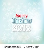 merry christmas greeting card | Shutterstock .eps vector #772950484