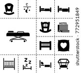 bed icons. set of 13 editable...   Shutterstock .eps vector #772951849