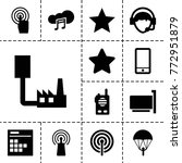 mobile icons. set of 13... | Shutterstock .eps vector #772951879