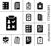 clipboard icons. set of 13... | Shutterstock .eps vector #772951891