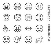 set of 16 smile outline icons... | Shutterstock .eps vector #772951969