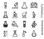 set of 16 lab outline icons... | Shutterstock .eps vector #772952071