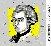 creative modern portrait of... | Shutterstock .eps vector #772952917
