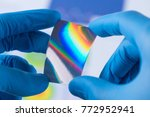 piece of new type of material... | Shutterstock . vector #772952941