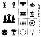 championship icons. set of 13... | Shutterstock .eps vector #772953445
