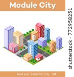 colorful 3d isometric module is ... | Shutterstock .eps vector #772958251