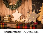 christmas decorations ... | Shutterstock . vector #772958431