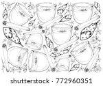 background illustration hand... | Shutterstock .eps vector #772960351