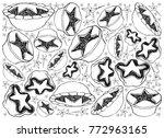 background illustration hand...   Shutterstock .eps vector #772963165