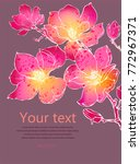 vector card with magnolia... | Shutterstock .eps vector #772967371