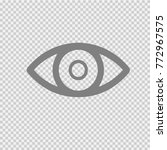 eye vector icon eps 10. | Shutterstock .eps vector #772967575