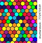 hexagonal vector pattern.... | Shutterstock .eps vector #772973539