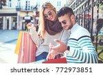 beautiful young couple enjoying ...   Shutterstock . vector #772973851