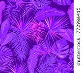 ultra violet seamless pattern... | Shutterstock .eps vector #772986415
