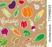vegetables seamless pattern | Shutterstock . vector #772988035