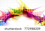 abstract composition  halftone...   Shutterstock .eps vector #772988209