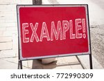 Small photo of Conceptual hand writing text caption inspiration showing Example. Business concept for Instance Illustration Paradigm For Instance written on announcement road sign with background and space