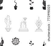 seamless texture of houseplants | Shutterstock .eps vector #772998325