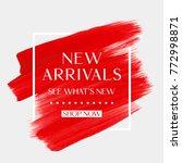 new arrivals sale text over art ... | Shutterstock .eps vector #772998871