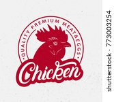 chicken logo  label  print ... | Shutterstock .eps vector #773003254