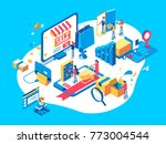 electronic commerce concept... | Shutterstock .eps vector #773004544