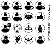 set of human vector icons for... | Shutterstock .eps vector #773005171