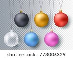 christmas gold  silver  glass... | Shutterstock .eps vector #773006329