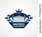 american football logo template.... | Shutterstock .eps vector #773006701
