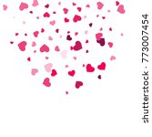heart confetti beautifully... | Shutterstock .eps vector #773007454
