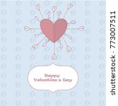 greeting card valentine's day...   Shutterstock .eps vector #773007511