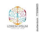 creative brain logo design.... | Shutterstock .eps vector #773008855